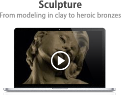 Sculpture: From modeling in clay to heroic bronzes