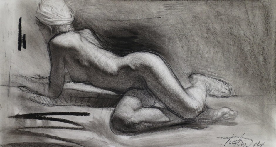 Finally, Steve Huston's charcoal drawing technique revealed