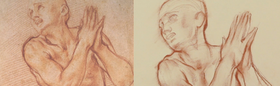 Line Quality In Art : Analyzing the line quality and structure of a pontormo