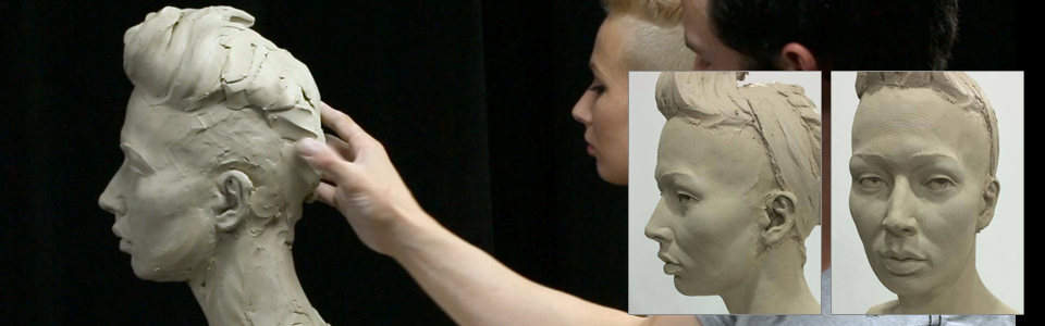 Sculpting a Life-Size Female Portrait in Water-Based Clay