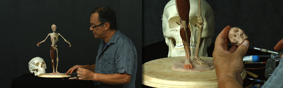 Build Your Own Ecorche with Rey Bustos | Part 8: The Thighs, Gluteals, and Skull Features