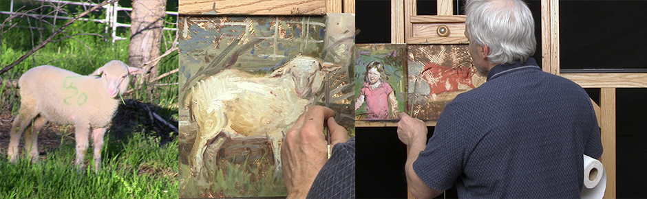 Painting Demonstration: Oil Sketch of a Sheep
